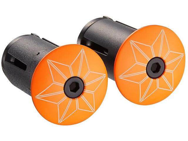 Supacaz Star Plugz Stuur Eindkappen, neon orange-pulverbeschichtet